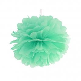 Pompon de Papel Color Menta 25 cm