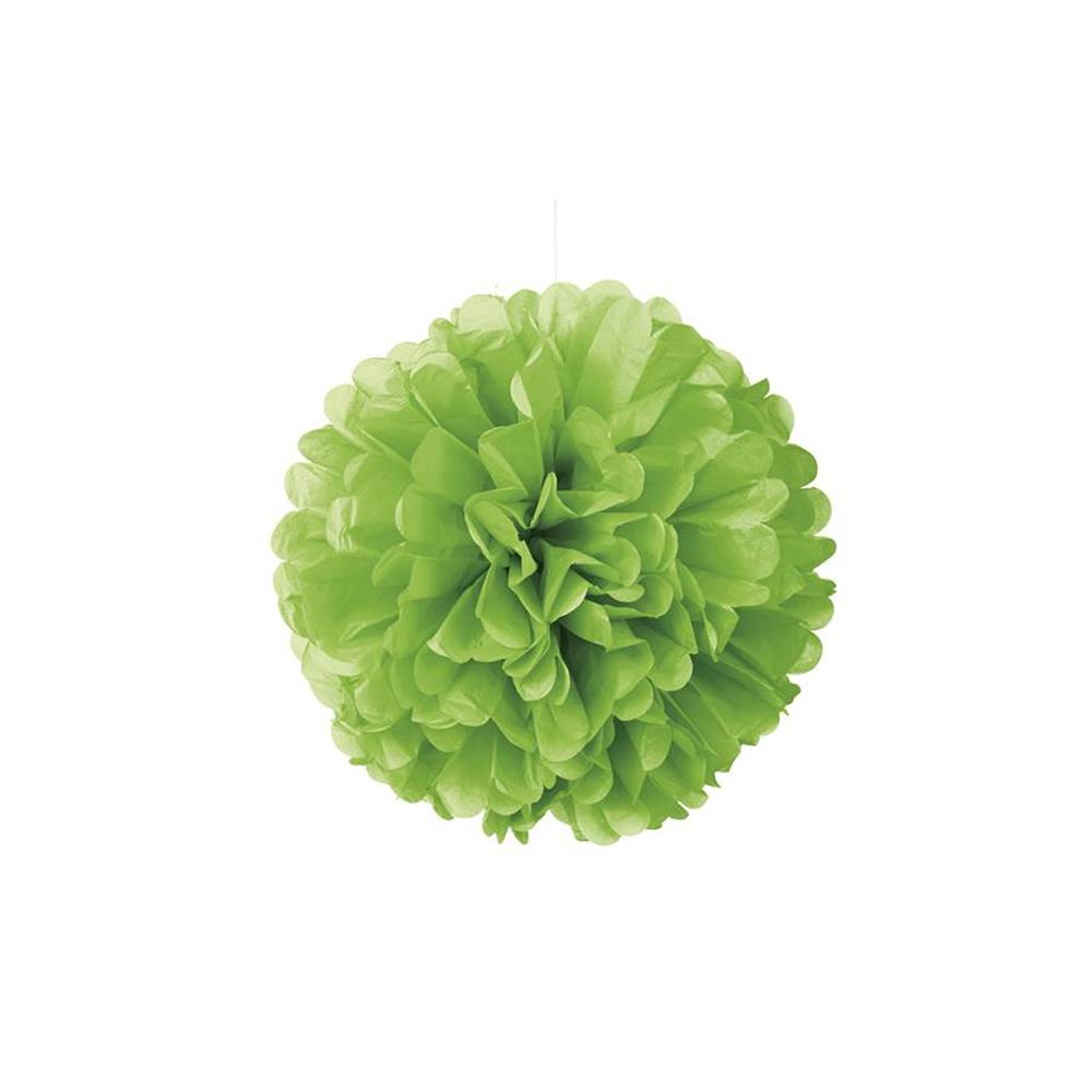 pompón en color verde lima para decorar