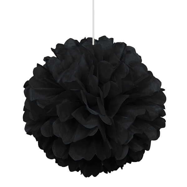 Pompón Negro 40 cm