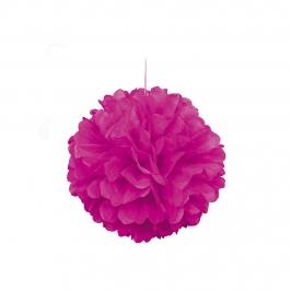 pompón rosa neón