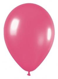 Pack de 10 globos de látex fucsia mate