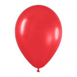 Pack de 12 Globos Rojo Mate 30 cm