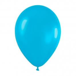 Pack de 10 globos azul caribe