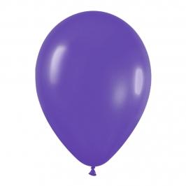 Pack de 12 Globos Violeta Mate 30 cm