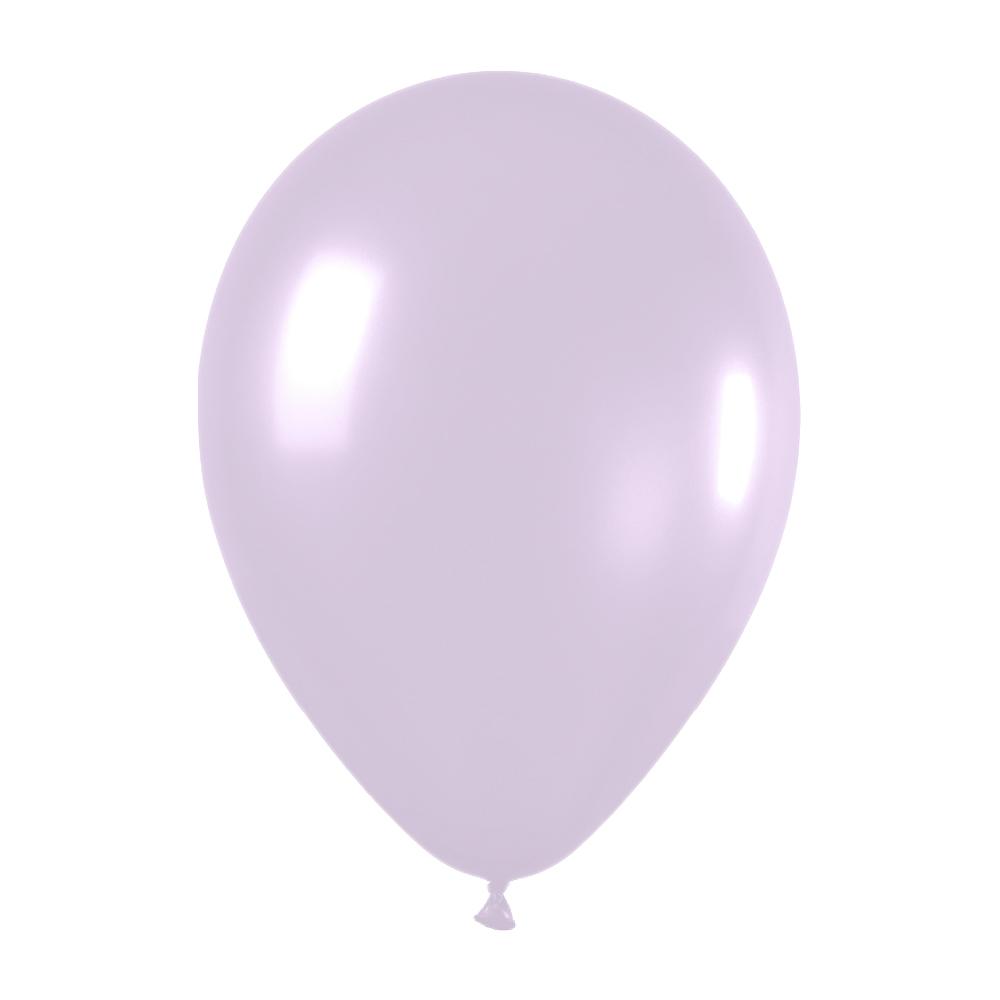 Pack de 10 globos de látex lila pastel