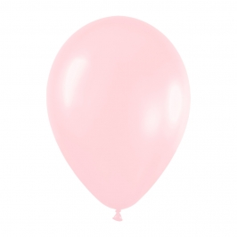 Pack de 10 globos de látex rosa satinado