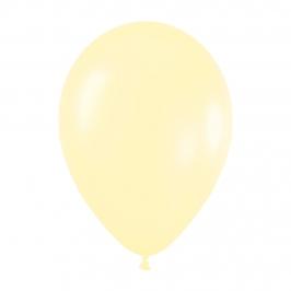 Pack de 12 Globos Amarillo Satinado 30 cm