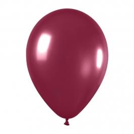 Pack de 10 globos vino tinto metalizado