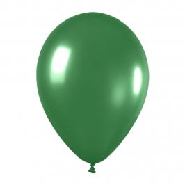Pack de 12 Globos Verde Metalizado 30 cm