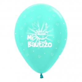 Pack de 10 globos de bautizo azules