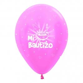 Pack de 10 globos de bautizo rosas