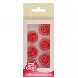 Rosas de Mazapán color Rosa 6 unidades
