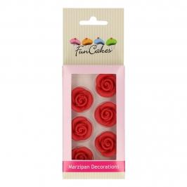 Rosas de Mazapán color Rojo