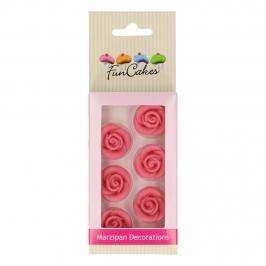 Rosas de Mazapán color Rosa