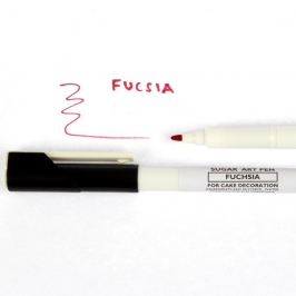 Rotulador color Fucsia de tinta comestible de Sugarflair