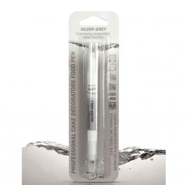Rotulador comestible doble punta Gris plata