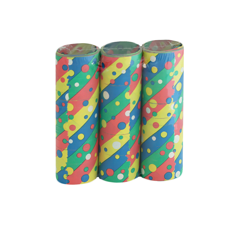 Serpentina Confetti Multicolor 3 Unidades
