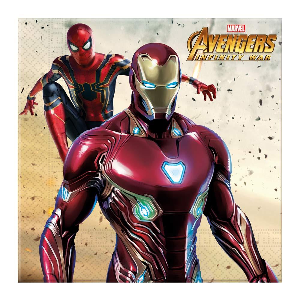 Juego de 20 Servilletas Vengadores Infinity War