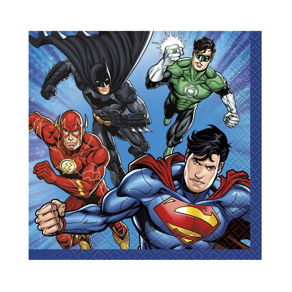 Servilletas de La Liga de la Justicia 13 cm