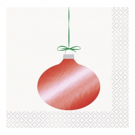 Servilletas de Papel Coctail Bola Navidad 16 ud