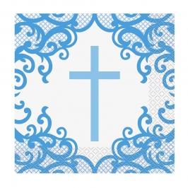 Servilletas de Papel Comunión Azul 16 ud