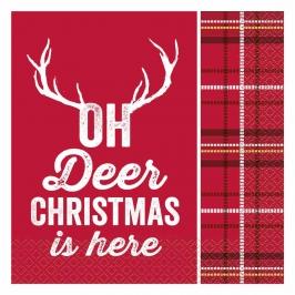 Servilletas de Papel Deer Christmas 16 ud