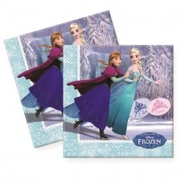Juego de 20 servilletas Elsa y Anna patinando