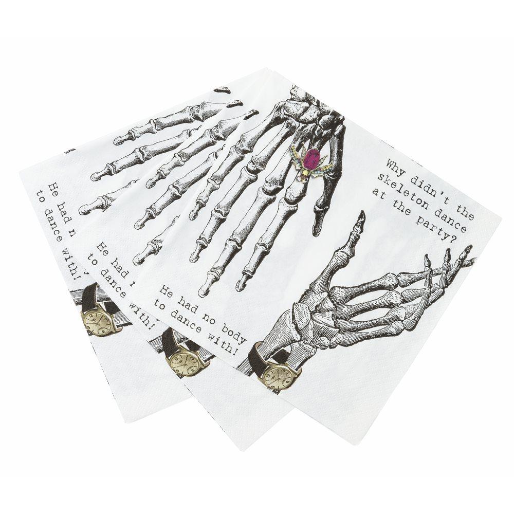 Servilletas esqueleto (20 uds)