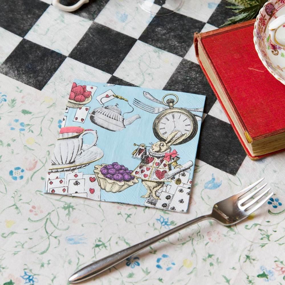 Juego de 20 Servilletas Coctail Truly Alice 12,5 cm