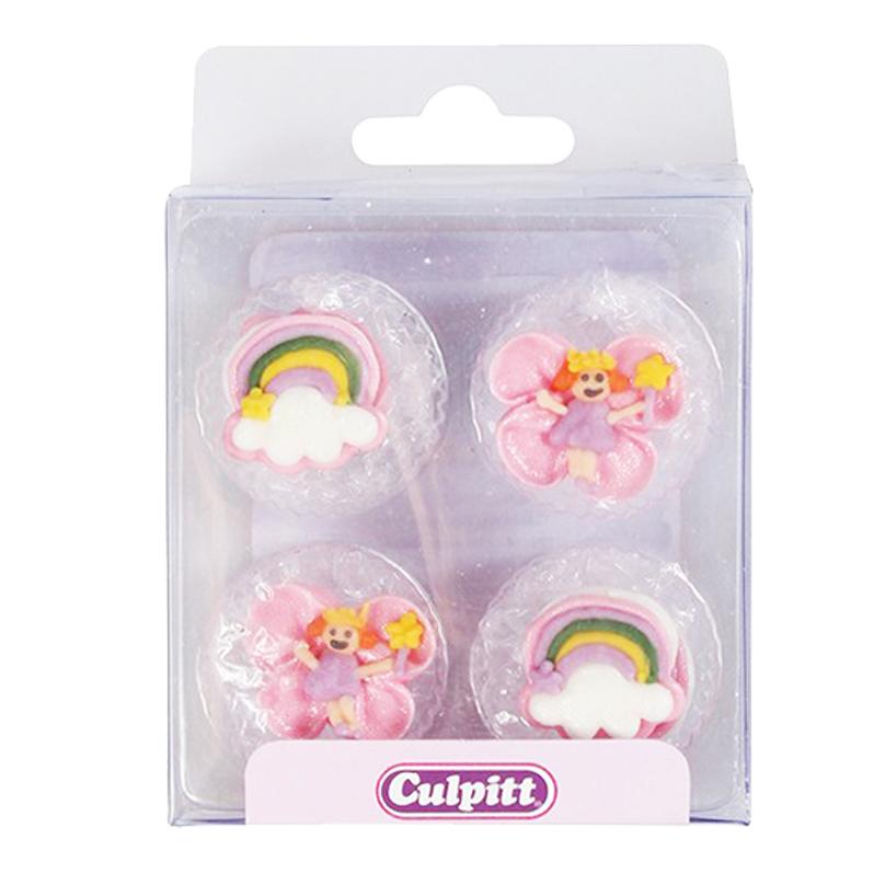 Set 12 decoraciones de Azúcar Hadas