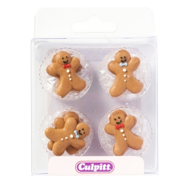 Set 12 decoraciones Gingerbread Man
