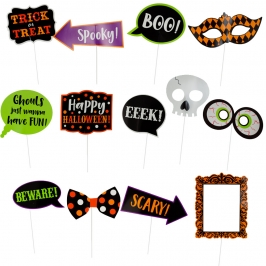 Set 13 accesorios para Photocall Halloween