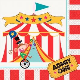 Set 16 Servilletas Circo Modelo B