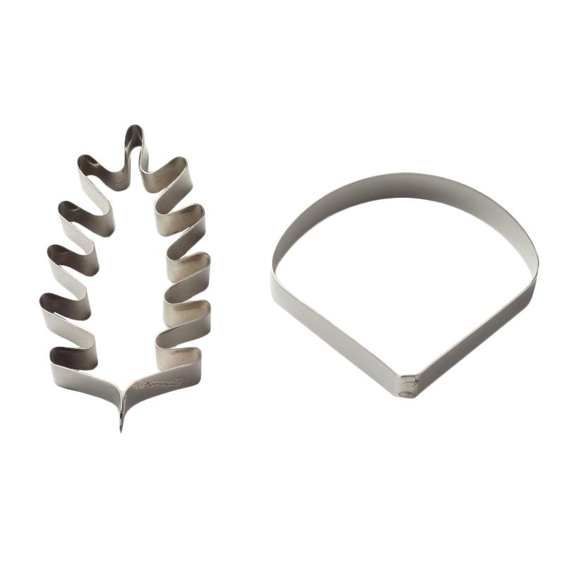 Set 2 cortadores metálicos amapola