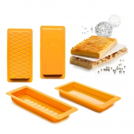 Set 2 Moldes Turrón Liso y Rombos