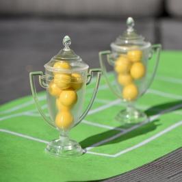 Set de 2 Trofeos Transparentes para Dulces 12 cm