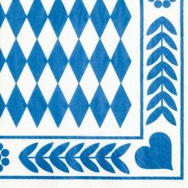 Set 20 Servilletas Baviera Azul