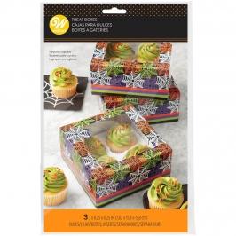Set 3 Cajas para 4 Cupcakes Telaraña