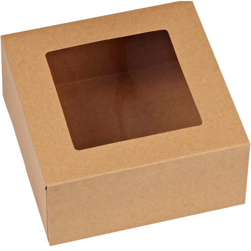 Set 3 Cajas Para Cupcakes Kraft 15 cm