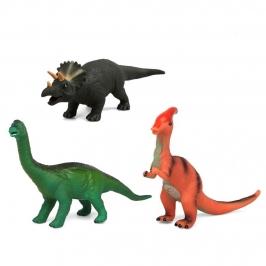 Set 3 Dinosaurios con Sonido Modelo A 36 cm