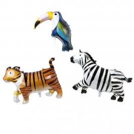 Set 3 Globos de Foil Animales de la Selva