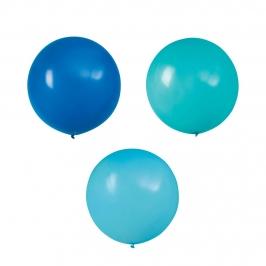 Set 3 Globos Foil Azul y Verde 60 cm