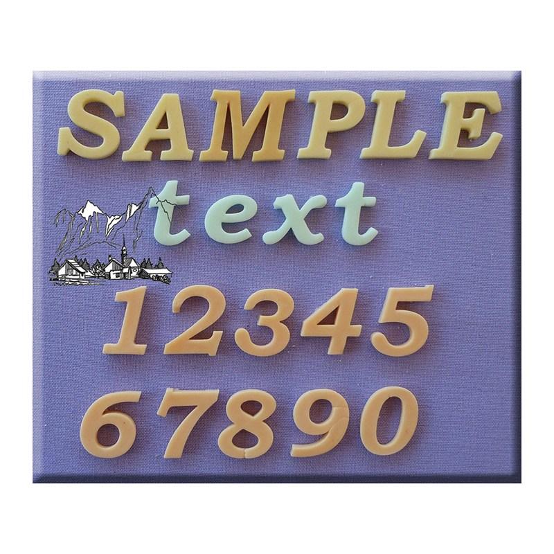 Set 3 moldes de silicona letras y números modelo clásico