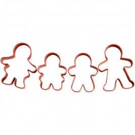 Set 4 cortadores Familia Gingerbread