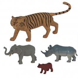 Set 4 Figuras para Tartas de Animales de la Selva