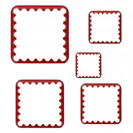 Set 5 cortadores de galletas cuadrados
