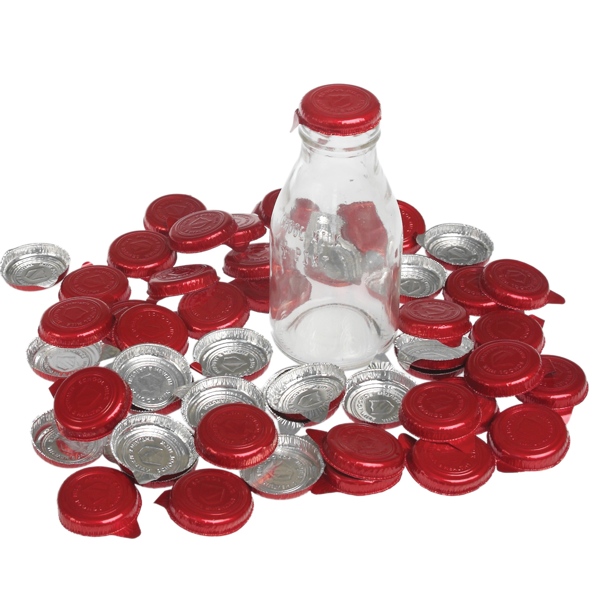 Set de 50 tapitas para botellitas de leche