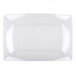 Set 8 bandejas transparentes 28 cm x 19 cm