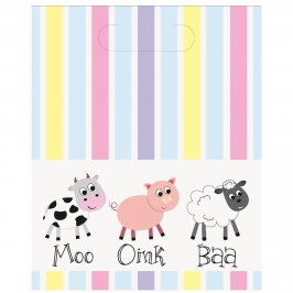 Set 8 Bolsas Chuches Animales Granja