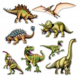 Set 8 Dinosaurios para Pared 25 - 48 cm
